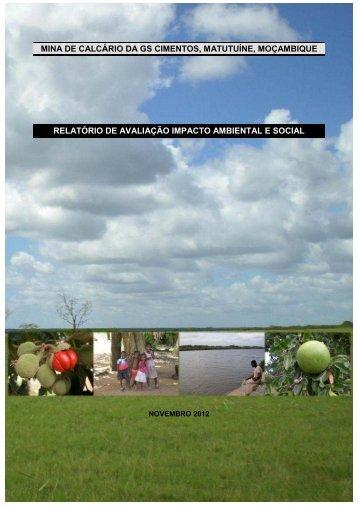 mina de calcário da gs cimentos, matutuíne, moçambique relatório ...