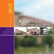 Research Institutes, Centres and Units - Universiti Sains Malaysia