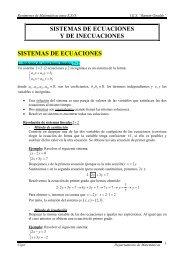 SISTEMAS DE ECUACIONES Y DE INECUACIONES SISTEMAS ...