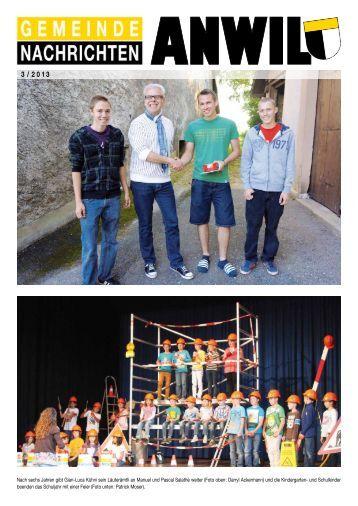 Gemeindenachrichten 2013-3 - Gemeinde Anwil