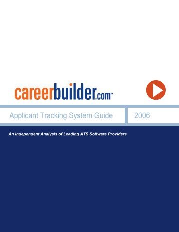 Applicant Tracking System Guide 2006 - Icbdr