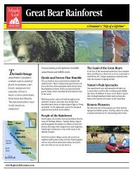 View brochure for more information - Maple Leaf Adventures