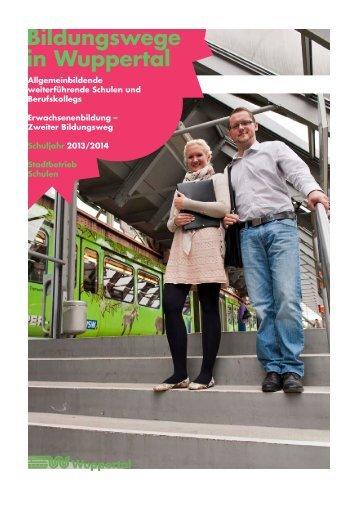 Broschüre Bildungswege in Wuppertal - Stadt Wuppertal