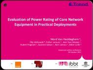 IBBT Template Proposal - Towards Real Energy-efficient Network ...