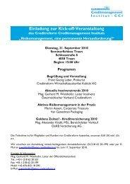 Einladung zur Kick-off-Veranstaltung - OeKB Versicherung AG