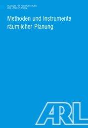 Methoden und Instrumente räumlicher Planung - ARL
