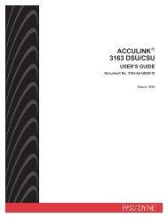 ACCULINK 3163 DSU/CSU User's Guide - Zhone Technologies