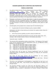 TOURISM QUEENSLAND'S CHRISTMAS 2009 PROMOTION ...