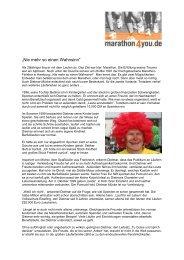 """""""Nie mehr so einen Wahnsinn"""" - Marathon4you.de"""