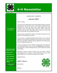 4-H Newsletter - Okeechobee County Extension Service