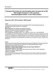 Transport ferroviaire de marchandises dans les pays de la CEI ... - UIC