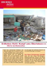 Erdbeben Haiti: Kampf ums Überleben - Don Bosco Mission