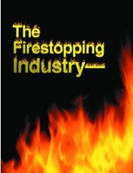 The Firestopping Industry Today and Tomorrow, 6/2001