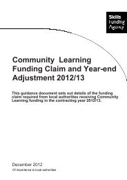 Funding Claim and Year-end Adjustment 2012/13 for ... - lsc.gov.uk