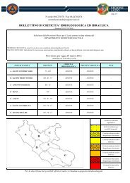 bollettino di criticita' idrogeologica ed idraulica - Regione Lazio