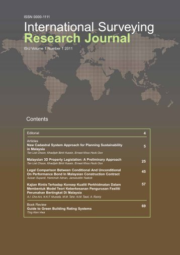 International Surveying Research Journal - RISM