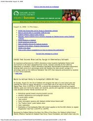 OUSD E-Newsletter August 15, 2008 - Oakland Unified School District