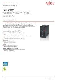 Datenblatt Fujitsu ESPRIMO P410 E85+ Desktop PC