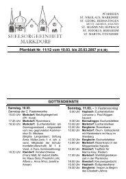 Pfarrblatt Nr. 11/12 vom 10.03. bis 25.03.2007 (€ 0,30 ...