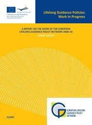 European Lifelong Guidance Policies: Work in Progress. A report on ...