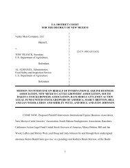 filed a motion to intervene - R-Calf
