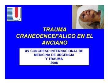 trauma craneoencefalico en el anciano - Reeme.arizona.edu