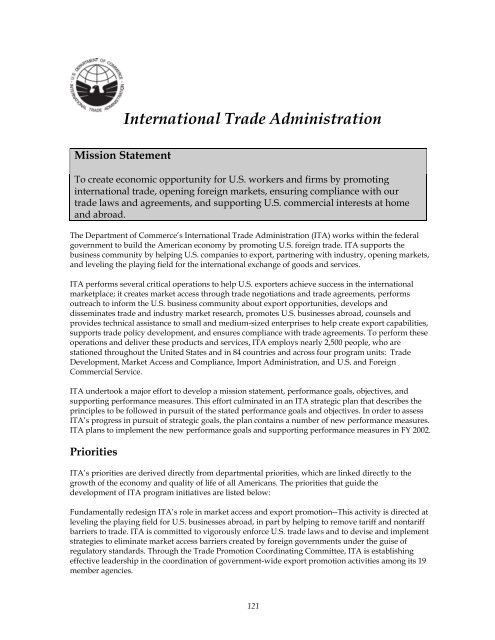 International Trade Administration - Department of Commerce