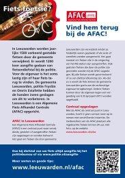Flyer AFAC - Gemeente Leeuwarden