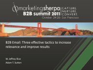 Three effective tactics to increase relevance and improve ... - meclabs