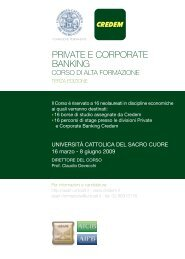 PRIVATE E CORPORATE BANKING - Strumentiperassociazioni.it