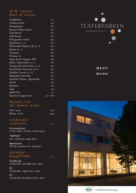 meny menu