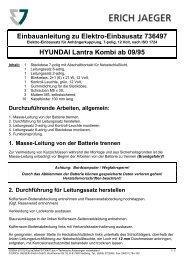 Einbauanleitung zu Elektro-Einbausatz 736497 HYUNDAI Lantra ...