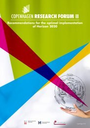 ii Recommendations for the optimal implementation of Horizon 2020