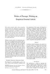 Writes of Passage: Writing an Empirical Journal Article
