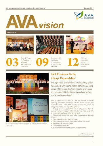 AVA Promises To Be Always Dependable - Agri-Food & Veterinary ...