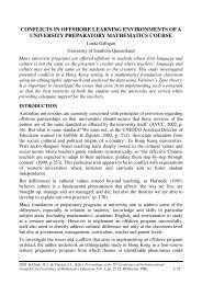 conflicts in offshore learning environments of a university - European ...