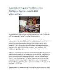 Kristie Franz writes a guest column for the Des Moines Register ...