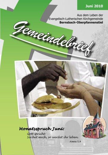 Juni 2010 Monatsspruch Juni: - posaunenchor-oberpfannenstiel.de