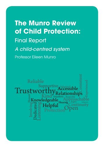 The Munro Review of Child Protection - Department for Education