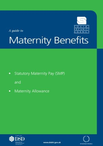 A guide to Maternity Benefits - Communities and Local Government