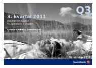 og analytikerkonferansen 28. oktober 2011 - SpareBank 1