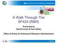 A Walk Through the SF424 (R&R) 1 of 2