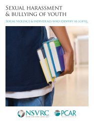 Sexual harassment & bullying of youth - National Sexual Violence ...