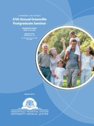 57th Annual Greenville Postgraduate Seminar - South Carolina ...