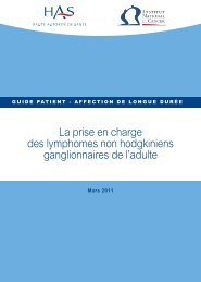Guide patient - Institut National Du Cancer