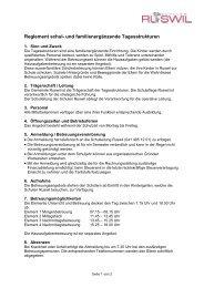 Reglement schul- und familienergänzende ... - Schulen Ruswil