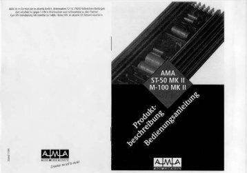 Bedienungsanleitung für AMA Stereo 50 und 100 MKII
