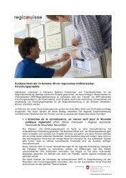 Portlet Forschungsprojekte D.pdf - Regiosuisse
