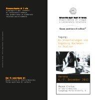 Verona 6.-7. Dezember 2012 - Università degli Studi di Verona