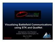 Visualized Battlefield Communications - AGI